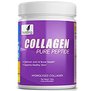 Nutrizing Hydrolyzed Collagen Powder For Stronger Bones, Shiny Hair, and Smoother Skin ~ Unflavoured Beef Protein From Grass-Fed & Pasture Raised Cattle ~ 100% Natural ~ Tasteless & Easy to Dissolve Powder ~ Works Best To Improve Bones, Joints, Muscles ~