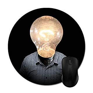 Start Up Bright Idea Aha Light Bulb Moment Mouse Pad -Office Gaming Desktop Accessory