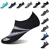 L-RUN Womens Beach Swim Shoes Outdoor Aqua Sock Black XL(W:10.5-11,M:8-9)=EU41-42
