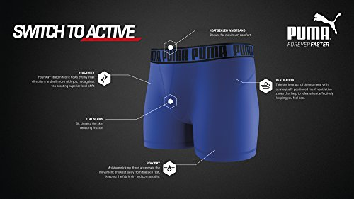 PUMA ACTIVE BOXER 2P Funktions Boxershorts Mehrfarbig