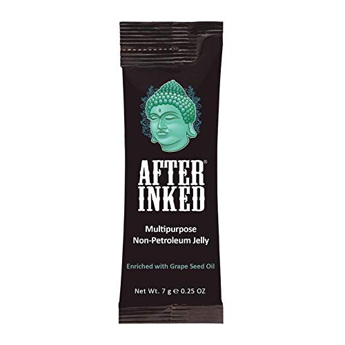 After Inked Gelee ohne Petroleum (vegane Vaseline). Ideal für Tattoos, Piercings und Permanent-Make-Up (Lippen). Parabenfrei. 7g (Vegane Vaseline)