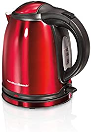 Hamilton Beach 40997-IN 1-Litre Stainless Steel Electric Kettle (Red)