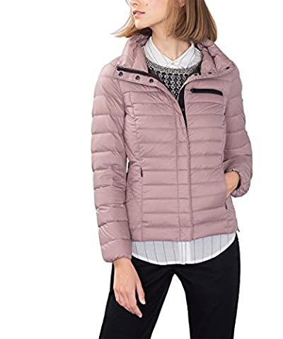 edc by ESPRIT Damen Jacke Superleichte Daunenjacke, Rosa (Dark Old Pink 675), 34 (Herstellergröße: XS)