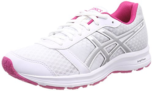 ASICS Patriot 9, Scarpe Running Donna, Bianco (White/Silver/Fuchsia Purple 0193), 39 EU