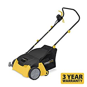 Powerplus 1300 Watt 2 in 1 Electric Lawn Scarifier / Aerator with 5 Working Depths Supplied with 10m Extension Cable POWXG7512 - 3 Year Home User Warranty
