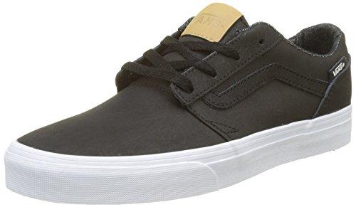 Vans Chapman Stripe Leather, Baskets Homme Noir (H17 Leather)