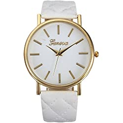 WINWINTOM Women Roman Leather Quartz Wrist Watch White
