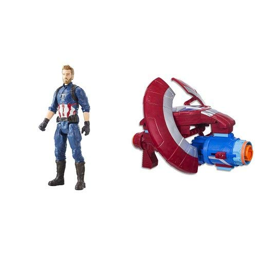 AVENGERS TITAN HERO SERIES Captain America with Assembler Gear
