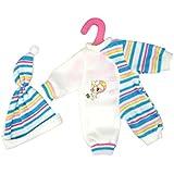Gazechimp Set Pyjama Robe Vêtements Tenue Décor Pour Poupées 14-16 inch Dolls