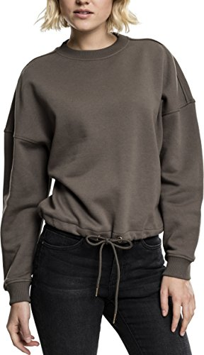 Urban Classics TB1523 Damen Ladies Oversized Crew Pullover, per pack Grün (army green 1144), X-Large (Herstellergröße: XL)