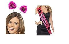 Idea Regalo - Womens Fancy Dress Hen Party addio al nubilato kit accessori Boppers Sash kit