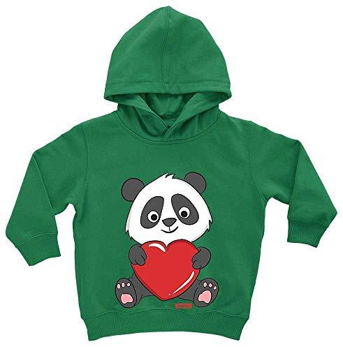 Tiere Geburt Kostüm - HARIZ Baby Hoodie Panda Umarmt Herz Süß Tiere Dschungel Inkl. Geschenk Karte Frosch Quietsch Grün 1-2 Jahre