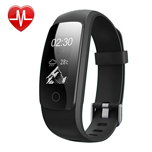 Smart Bracelet,Willful SW331 Fitness Tracker with Heart Rate Monitor Waterproof Activity Tracker Pedometer, 0.96