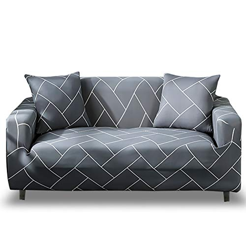 HOTNIU Elastischer Sofa-Überwürfe 1-Stück Antirutsch Stretch Sofaüberzug, Sofahusse, Sofabezug, Sofa Abdeckung Hussen für Sofa, Couch, Sessel in Verschiedene Größe und Farbe (3 Sitzer, Muster #QHXT)