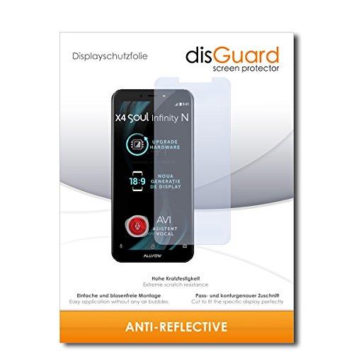 disGuard® Bildschirmschutzfolie [Anti-Reflex] kompatibel mit Allview X4 Soul Infinity N [2 Stück] Entspiegelnd, Matt, Antireflektierend, Extrem Kratzfest, Anti-Fingerabdruck - Schutzfolie
