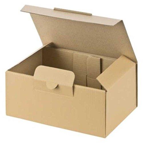 50 Stk. Warensendung Versandkarton MEDIUM, extra stabil, 174x104x74mm, braun/Portooptimiert für Warensendung Maxi + und Büchersendung (D) und Großbrief + Großbrief International (A)