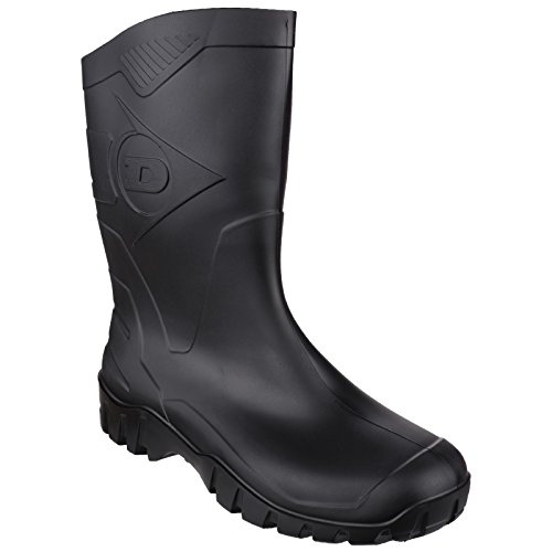 Dunlop Dee Calf K580011 - Stivali In Gomma Tinta Unita - Uomo (43 EUR) (Nero)