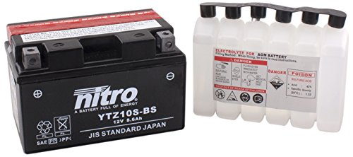 NITRO YTZ10S-BS-Batteria Moto-N-AGM aperto con acido
