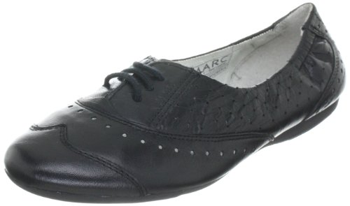 Marc Shoes 1.650.18-11/115-Janine, Damen Ballerinas Schwarz (black-pistacchio 115)