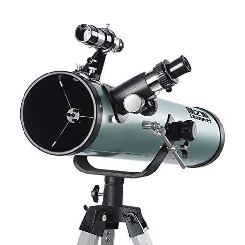S-AIM Astronomie-Teleskop 700 / 110mm, Refraktor-Teleskop für Kinder und Jugendliche Einsteiger-Reiseteleskop