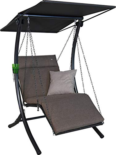Angerer Swing Smart Hollywoodschaukel, Taupe, 1-Sitzer