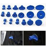 #3: Atoz prime 18pcs Car Dent Repair Pulling Tabs Paintless Body Slide Damage Removal Tool Blue