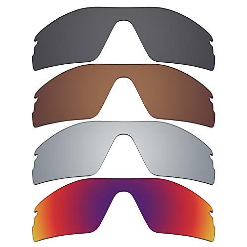 Mryok polarisierte Ersatzgläser für Oakley Radar Pitch Sonnenbrille - Stealth Black/Bronze Brown/Silver Titanium/Midnight Sun