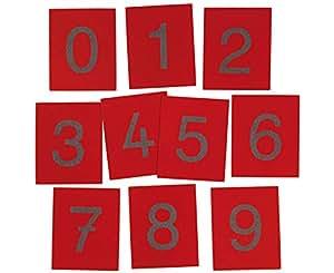 Sandpapier-Ziffern, Zahlen von 0-9 - Montessori-Material Mathematik Schule Kinder lernen Montessorischule lehren Lehrmittel Arbeitsmittel Schüler Montessoripädagogik Ansatz Pädagogik Rechnen lernen