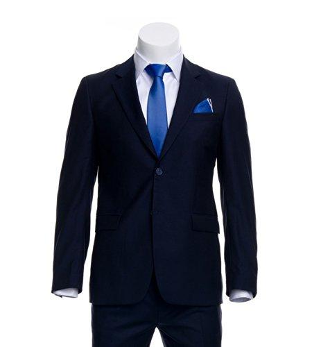 AZZURINO Sakko Business in Marine, reine Schurwolle 120'S, Gr. 56 (Einreiher Anzug Pattentasche)