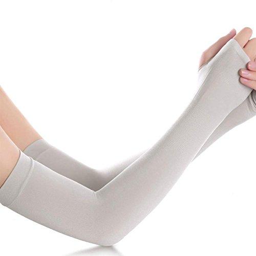 Meetforyou Armlinge Armstulpen UV-Schutz Kühlung Elastischer Armschutz Atmungsaktiv Leichte Sport Kompressionsarmstützen für Basketball, Fußball, Fahren, Radfahren, Angeln, Golf, Baseball