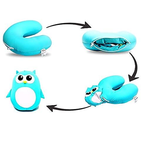 Niuniu Daddy Children Neck Support Comfort Travel Pillow, Cute Animals (Owl)