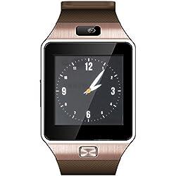 DZ09Bluetooth Smart Watch Wrist Wrap Montre téléphone avec caméra écran Tactile pour Samsung Galaxy S4/S5/S6, HTC et iPhone 5, iPhone 6/6Plus Smartphone