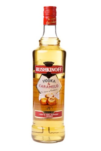 Rushkinoff Vodka Caramelo 6 Fl x 1L.