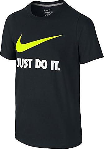 JDI TEE YTH Nike Swoosh T-shirt pour enfant L Noir/vert