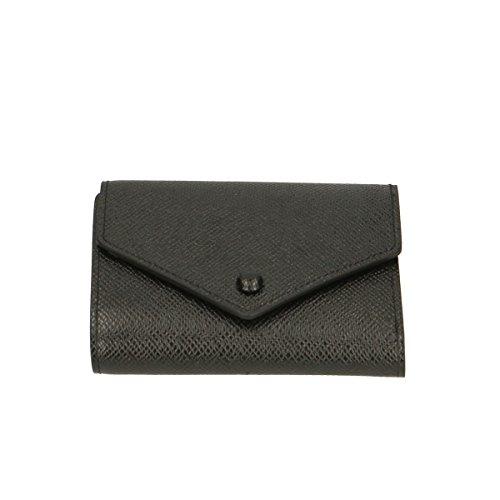 Chicca Borse Portafogli in pelle 12x9x3 100% Genuine Leather Nero Aclaramiento Falsa Línea t3afrV