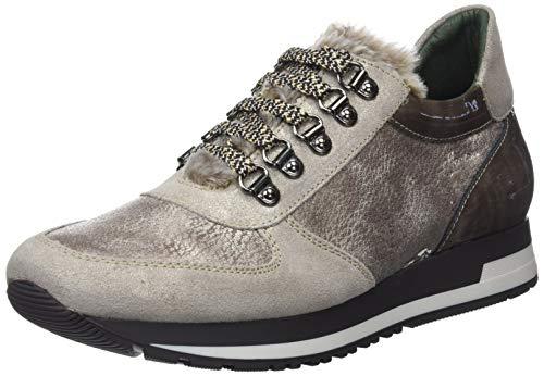 DORKING True, Zapatos Cordones Derby Mujer, Plateado