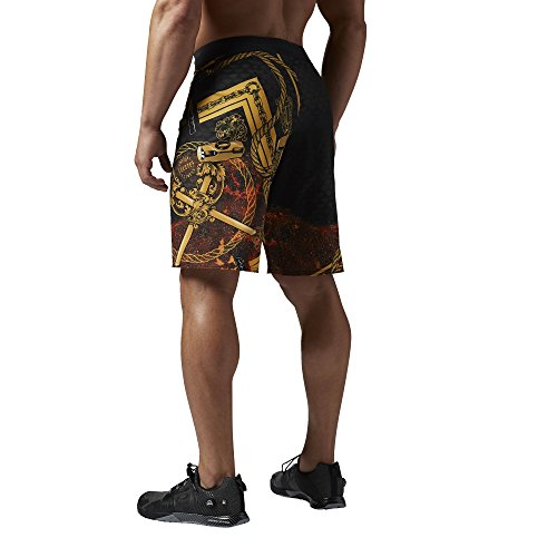 Reebok-Mens-Crossfit-Super-Nasty-Joe-King-Graphic-Board-Shorts-Multi-Coloured-black