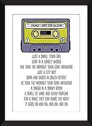 Journey - Don't Stop Believin' Lyrics - Unframed Print/S