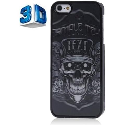 Cellphone Case & Cover Caso del modello di plastica 3D effetti di stile di scheletro per iPhone 5 e 5s &SE by DIEBELLEU
