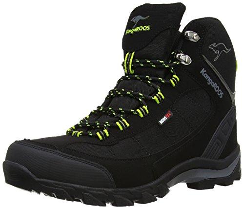 KangaROOS K-Trekking 3008M, Scarponcini outdoor Uomo Nero (Schwarz (black/lime 580))