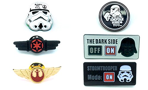 Star Wars Cosplay Metal Pin Badge Satz von - Star Wars Rebel Fighter Kostüm