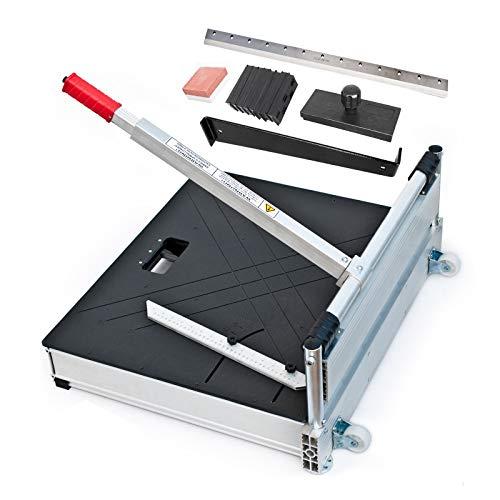 Schnittbreite 480mm - Der BAUTEC PROFI Laminatschneider - Parkettschneider inkl. 2 Klingen, Rollen und Teleskophebel und 18teiligem Verlege Set