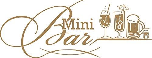 GRAZDesign 620580_30_081 Wandtattoo Küche Mini Bar mit Cocktails | Wand-Deko für Café - Bar - Kneipe als Aufkleber | Selbstklebende Klebefolie (79x30cm // 081 Hellbraun)