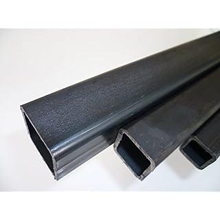 B&T Metall Stahl Vierkantrohr 50 x 50 x 3 mm in Längen à 2000 mm +0/-3 mm Quadratrohr ST37 schwarz roh Hohlprofil Rohstahl