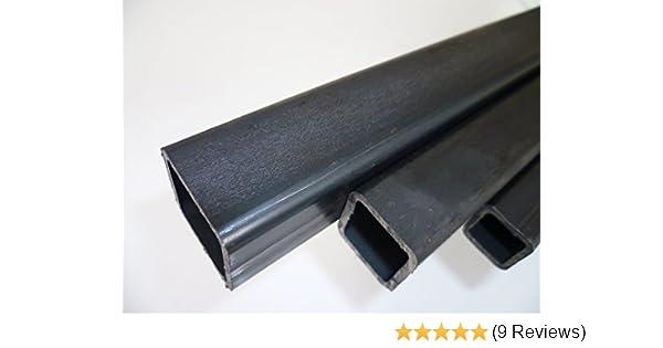 Quadratrohr Stahlrohr Hohlprofil Vierkantrohr 500mm L/änge 20x20x2