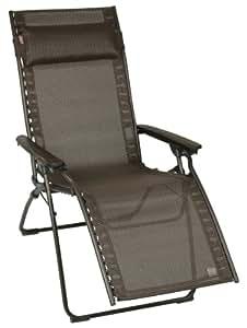 lafuma lfm2353 6135 evolution fauteuil relax marron jardin. Black Bedroom Furniture Sets. Home Design Ideas