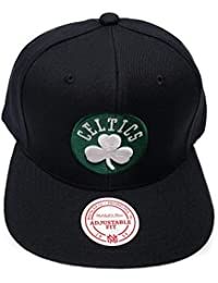new products 26c61 8e75b Mitchell   Ness Boston Celtics Current Solid Wool Snapback Hat NBA