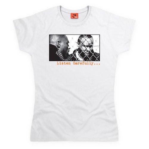 Official The Wire T-Shirt - Listen Carefully, Damen Wei