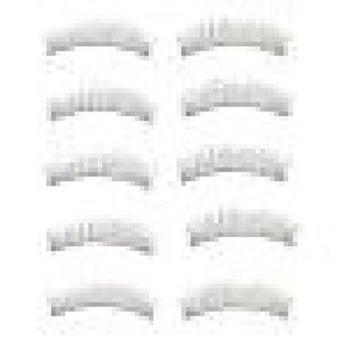 LETTER®10 Paare Lange dickeNeue weiche handgemachte gefälschte falsche Wimpern Make-up-Erweiterungen (schwarz)