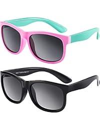 2 Piezas de Gafas de Sol Polarizadas de Niños Flexibles de Goma Gafas de Sol de